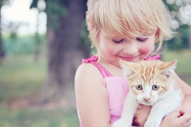 Benefícios de ter um gato para crianças